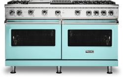 Brand: Viking, Model: VGR5606GQSSLP, Color: Bywater Blue with Liquid Propane