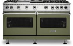 Brand: Viking, Model: VGR5606GQSSLP, Color: Cypress Green with Liquid Propane
