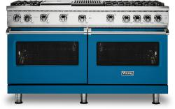 Brand: Viking, Model: VGR5606GQSSLP, Color: Alluvial Blue with Liquid Propane