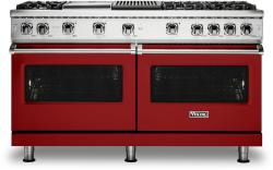 Brand: Viking, Model: VGR5606GQSS, Fuel Type: Apple Red with Natural Gas