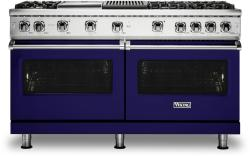 Brand: Viking, Model: VGR5606GQSS, Fuel Type: Cobalt Blue with Natural Gas