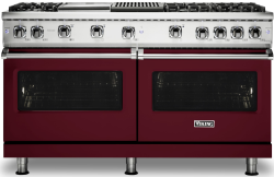 Brand: Viking, Model: VGR5606GQSS, Fuel Type: Burgundy with Natural Gas