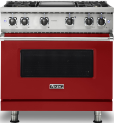 Brand: Viking, Model: VGR5364GAR, Fuel Type: Apple Red with Natural Gas
