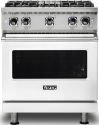Brand: Viking, Model: VGR5304BCBLP, Color: Frost White with Liquid Propane