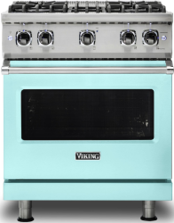 Brand: Viking, Model: VGR5304BCBLP, Color: Bywater Blue with Liquid Propane