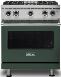 Brand: Viking, Model: VGR5304BCBLP, Color: Blackforest Green with Liquid Propane