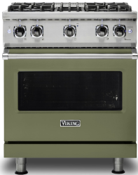 Brand: Viking, Model: VGR5304BCBLP, Color: Cypress Green with Liquid Propane