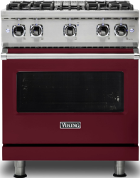Brand: Viking, Model: VGR5304BCY, Fuel Type: Burgundy with Natural Gas