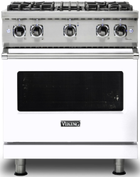 Brand: Viking, Model: VGR5304BCBLP, Fuel Type: White with Liquid Propane