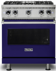 Brand: Viking, Model: VGR5304BCY, Fuel Type: Cobalt Blue with Natural Gas