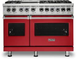 Brand: Viking, Model: VDR5486GSS, Color: San Marzano Red, Natural Gas