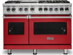 Brand: Viking, Model: VDR5486GSS, Color: San Marzano Red, Liquid Propane
