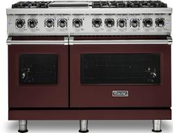 Brand: Viking, Model: VDR5486GSS, Color: Kalamata Red, Liquid Propane
