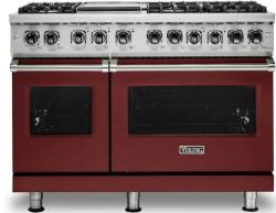 Brand: Viking, Model: VDR5486GSS, Color: Reduction Red, Natural Gas
