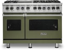 Brand: Viking, Model: VDR5486GSS, Color: Cypress Green, Liquid Propane