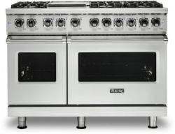 Brand: Viking, Model: VDR5486GSS, Color: Frost White, Natural Gas