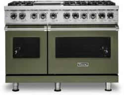 Brand: Viking, Model: VDR5486GSS, Color: Cypress Green, Natural Gas