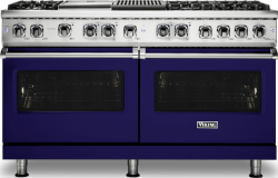 Brand: Viking, Model: VDR5606GQCS, Fuel Type: Cobalt Blue, Natural Gas
