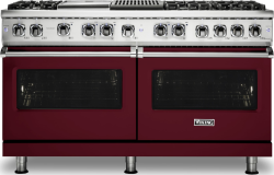 Brand: Viking, Model: VDR5606GQCS, Fuel Type: Burgundy, Natural Gas
