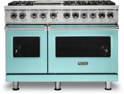 Brand: Viking, Model: VDR5486GSS, Color: Bywater Blue, Liquid Propane