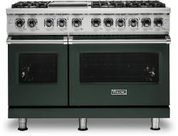 Brand: Viking, Model: VDR5486GSS, Color: Blackforest Green, Liquid Propane