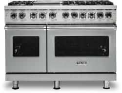 Brand: Viking, Model: VDR5486GSS, Color: Arctic Grey, Natural Gas