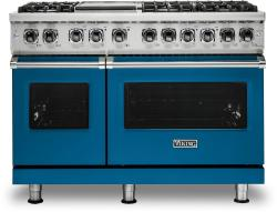 Brand: Viking, Model: VDR5486GSS, Color: Alluvial Blue, Liquid Propane