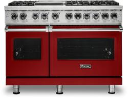 Brand: Viking, Model: VDR5486GSS, Fuel Type: Apple Red, Natural Gas