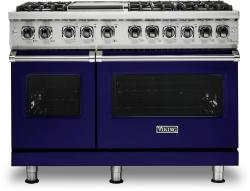 Brand: Viking, Model: VDR5486GSS, Fuel Type: Cobalt Blue