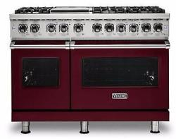 Brand: Viking, Model: VDR5486GSS, Fuel Type: Burgundy, Natural Gas