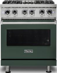 Brand: Viking, Model: VDR5304BARLP, Color: Blackforest Green, Natural Gas