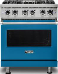 Brand: Viking, Model: VDR5304BARLP, Color: Alluvial Blue, Liquid Propane