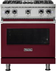 Brand: Viking, Model: VGR5304BCY, Fuel Type: Burgundy with Liquid Propane