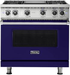 Brand: Viking, Model: VGR5364GAR, Fuel Type: Cobalt Blue with Liquid Propane