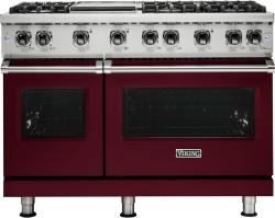 Brand: Viking, Model: VGR5486GAG, Fuel Type: Burgundy, Liquid Propane