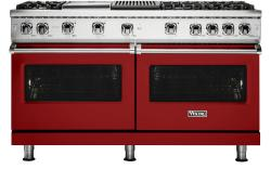 Brand: Viking, Model: VGR5606GQSS, Fuel Type: Apple Red with Liquid Propane