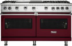 Brand: Viking, Model: VGR5606GQGG, Fuel Type: Burgundy with Liquid Propane
