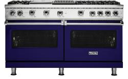 Brand: Viking, Model: VGR5606GQGG, Fuel Type: Cobalt Blue with Liquid Propane