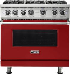 Brand: Viking, Model: VGR5366BFWLP, Fuel Type: Apple Red, Natural Gas