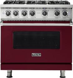 Brand: Viking, Model: VGR5366BBU, Fuel Type: Burgundy, Natural Gas
