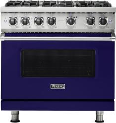 Brand: Viking, Model: VGR5366BBU, Fuel Type: Cobalt Blue, Liquid Propane
