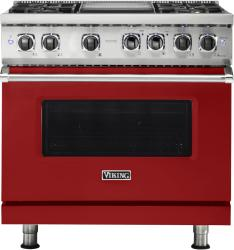 Brand: Viking, Model: VDR5364GSMLP, Fuel Type: Apple Red, Liquid Propane