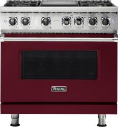 Brand: Viking, Model: VDR5364GSMLP, Fuel Type: Burgundy, Natural Gas