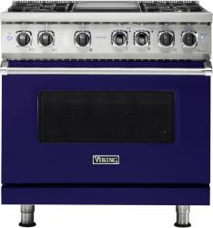 Brand: Viking, Model: VDR5364GSMLP, Fuel Type: Cobalt Blue, Natural Gas