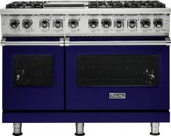Brand: Viking, Model: VDR5486GAB, Fuel Type: Cobalt Blue