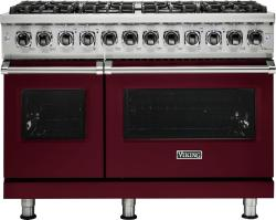 Brand: Viking, Model: VDR5486GAB, Fuel Type: Burgundy, Liquid Propane