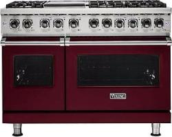 Brand: Viking, Model: VDR5486GAB, Fuel Type: Burgundy, Natural Gas