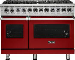 Brand: Viking, Model: VDR5486GAB, Fuel Type: Apple Red, Liquid Propane