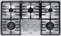 Brand: MIELE, Model: KM3474G, Fuel Type: Stainless Steel, Contemporary Linear Grate Design and Liquid Propane