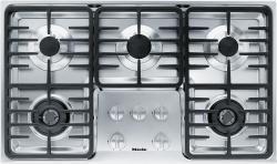 Brand: MIELE, Model: KM3474G, Fuel Type: Stainless Steel, Contemporary Linear Grate Design and Natural Gas